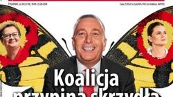 Schetyna motylem, Nowacka i Lubnauer jego skrzydełkami. Żenująca okładka 'Polityki' - miniaturka