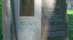 Zbezczeszczony pomnik ku czci ofiar Katynia - miniaturka